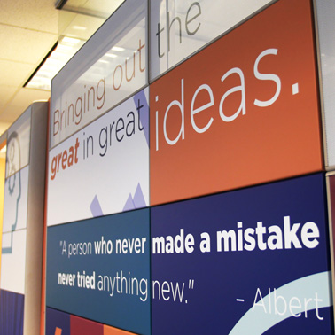 MidMichigan Innovation Center graphic wall